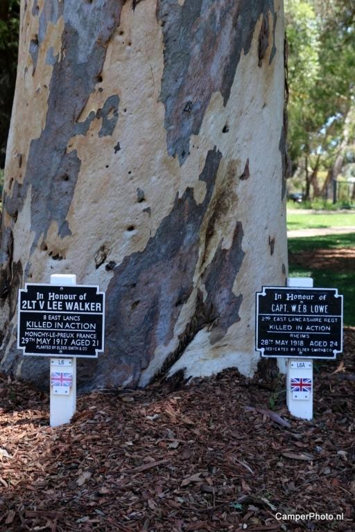 Gesneuveld in 1e wereldoorlog - Kings Park - Botanic Garden Perth