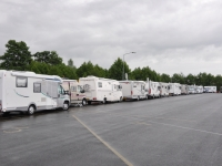 de meeste campers al in de namiddag